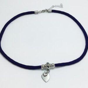 Gargantilla KENTIA Azul Marino Corazón